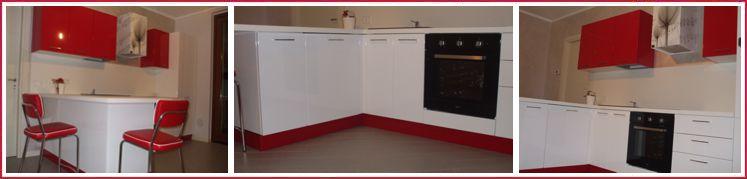 Cucina Bianca E Rossa. Affordable Letto Standard Moderno In Legno Q ...